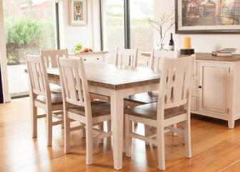 Wellington Dining - Cotton White
