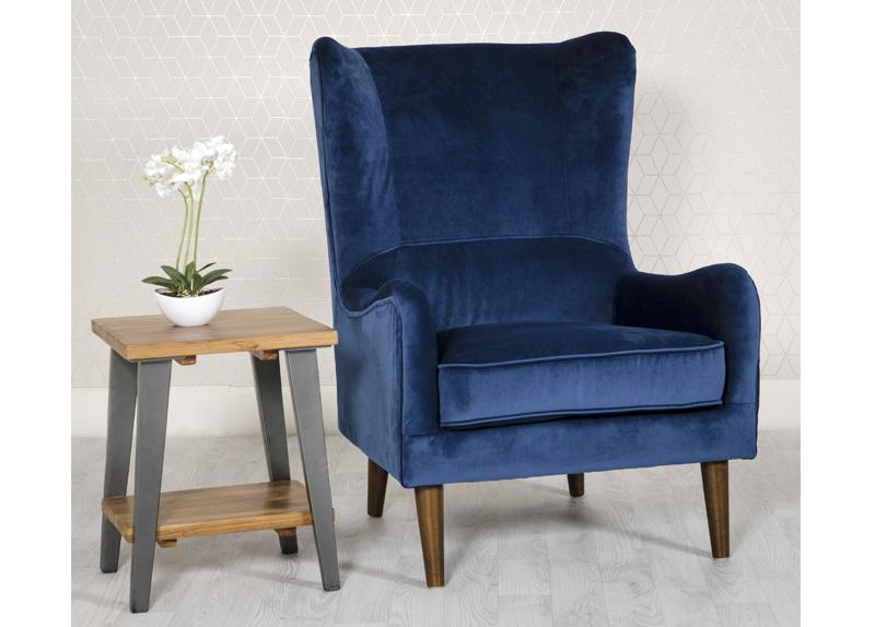 Freya Chair Blue Furniture Link